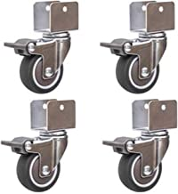 4 STUKS 1.5 Inch Wielen Meubels Accessoires Multiplex Rubber Universele Caster Wieg Wieg Katrol Mute Met Rem (Kleur: C, Ma...