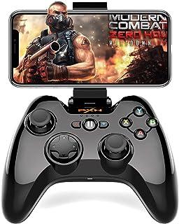 Bluetooth 接続iPhoneに適用コントローラーPXN 専属無料APPあり Apple認証 IOS MFi ゲームパッド iPhone, iPad, iPod touchに対応 PUBGに非対応(黒)