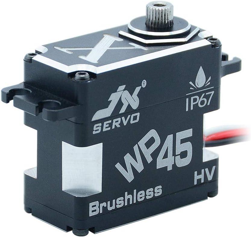 JX Servo WP45 45KG Ranking TOP20 8.4V New popularity 0.11sec Waterproof Steel IP67 Gear Rated