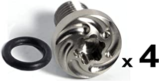 """4 ea Stainless Whorl 1911 Grip Screws, 4 ea O Rings 