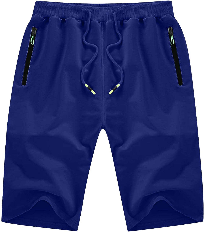 XUNFUN Men's Casual Shorts Elastic Waist Workout Comfy Camo Summer Beach Hiking Shorts Big and Tall Swinming Shorts