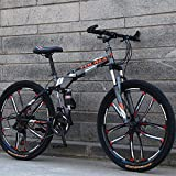 SWORDlimit 26 Inch Mountain Bike Folding for Men and Women, Dual Full...