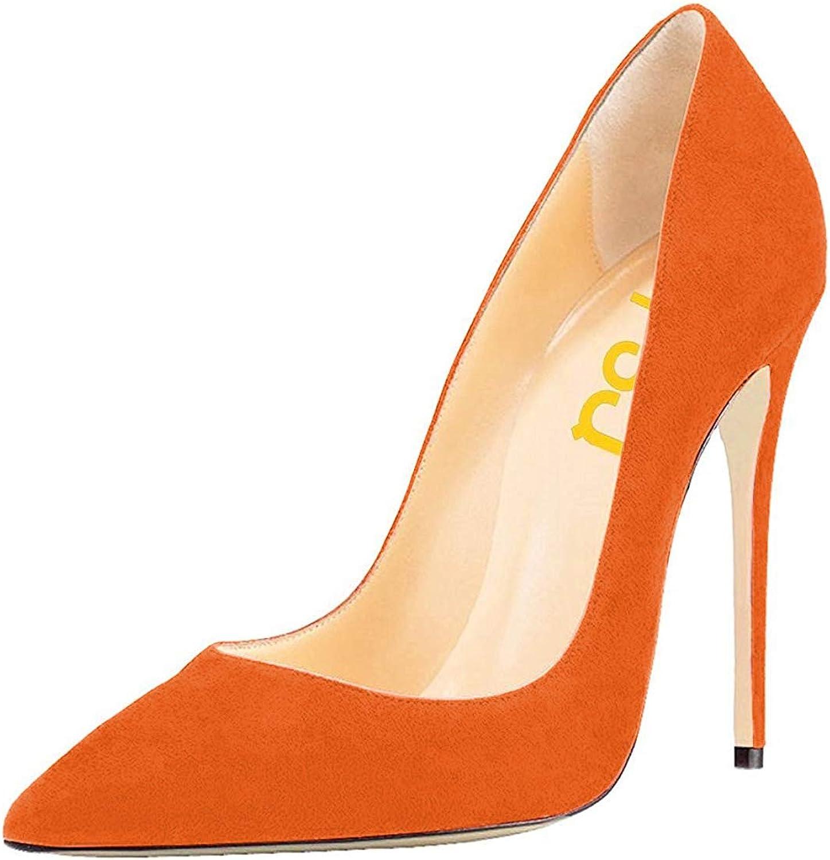 FSJ Women Multicolord Pointed Toe Pumps Stiletto High Heels