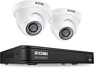 ZOSI H.265+ Full 1080p Home Security Camera System,5MP Lite CCTV DVR Recorder 4 Channel and 2 x 2MP 1080P Weatherproof Sur...