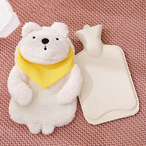 LYDF Botella de agua caliente de goma, calentador de manos, calentador de manos, tela de felpa cálida para aliviar el dolor, terapia de frío caliente, para calentar el invierno, bonito regalo