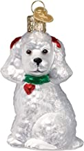 Old World Christmas Glass Blown Ornament with S-Hook and Gift Box, More Dogs Collection (Poodle [White])