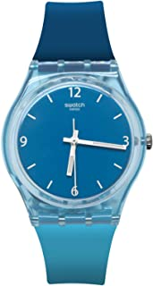 Swatch GS161 Fraicheur Blue White Analog Dial Silicone Band Watch