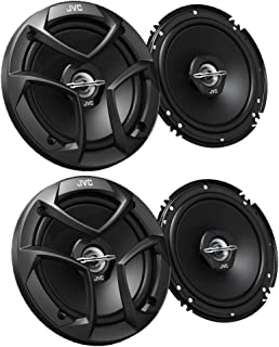 Hybrid Surround 6 x 9 Woofers Balanced Neodymim Tweeter 550W Max Power Wide Opening Grill Carbon Mica Cone JVC CS-DR6940 drvn DR Series 4-Way Coaxial Speakers Small Design Tweeter Cover