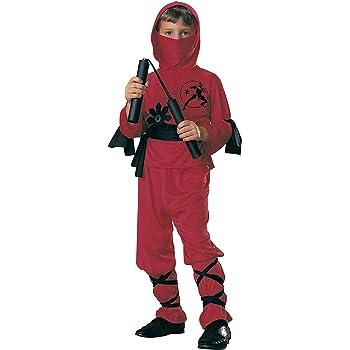 Rubies - Disfraz de ninja para niños, color rojo, 5-7 años (12110 ...