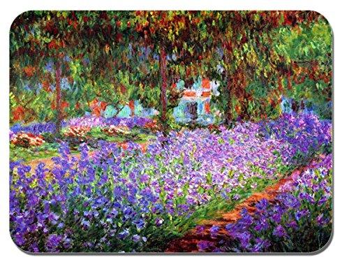 Claude Monet The Garden at Giverny del mouse. Stampa di alta qualità mouse pad