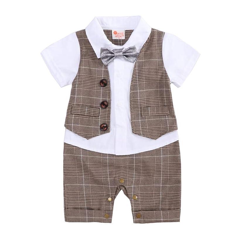 Baby Boy Gentleman Outfit Formal2 Piece Romper Infant Tuxedo Dress Suits