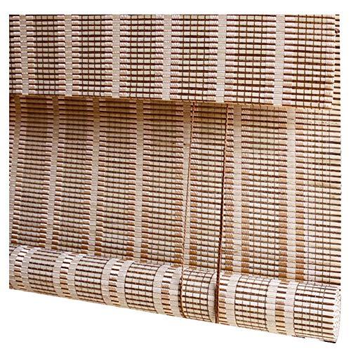 CHAXIA Rolgordijn Bamboe Schaduw Rolluik Woonkamer Slaapkamer Gordijn Trekkoord Vermelding Liter, 2 Kleuren, Meerdere maten, Aanpasbaar