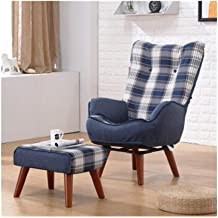 LJBH Single Sofa Chair, Lazy Couch Single Rotatable Breastfeeding Chair, Small Apartment Balcony Lounge Chair Bedroom Read...