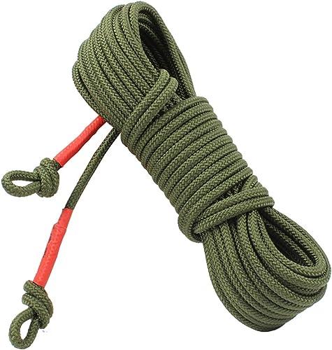 TLMYDD Corde de sécurité pour Corde d'escalade Corde de Secours en Acier diamètre de l'ame 8mm Cordes (Taille   25m)