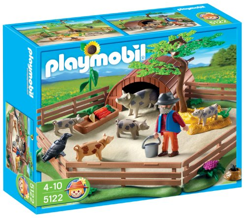 PLAYMOBIL - Granja Cerdos con Cercado (5122)