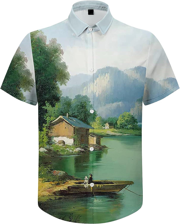 Men's Short-Sleeve Shirt Beautiful Blue Sky and Shirt