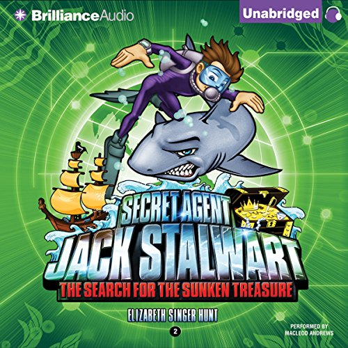 Secret Agent Jack Stalwart: Book 2: The Search for the Sunken Treasure: Australia audiobook cover art