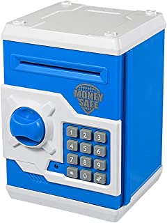 APUPPY Cartoon Password Piggy Bank Cash Coin Can,Electronic Money Bank,Birthday Gifts Toy Gifts for Kids (Blue)