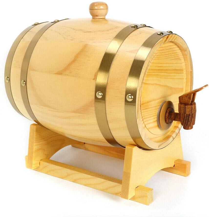 Barril de roble de 5 litros, vino de pino, whisky, barril de vino, barriles de gama alta, color madera de pino
