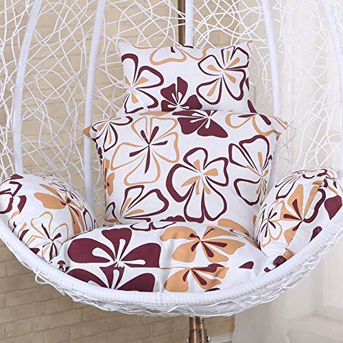 Unknow Chaise pivotante Cushion, épais nid Panier Unique Suspendu Oeuf hamac Chaise Coussins Amovible Lavable, Patio extérieur intérieur arrière-Cour G