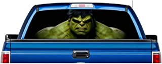 EZ CUT PRO Perforated Hulk Avengers USA Made Pick-UP Truck Back Window Graphic Decal Vinyl (Small 55