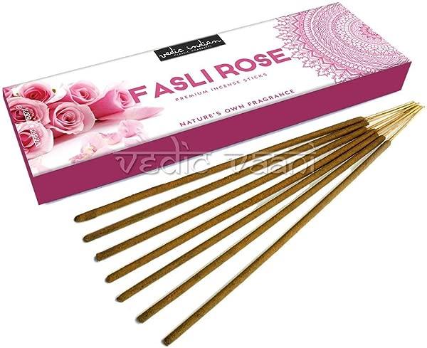 Vedic Vaani Fasli Rose Premium Incense Sticks 100 Gms