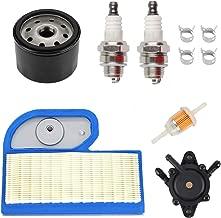 Notos 11013-7002 Air Filter with AM107423 Oil Filter Spark Plug Fuel Pump Filter Fit for John Deere LT180 LT190 LTR180 LX277 LX280 GT235 FZ325 325 345