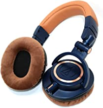 ATH-M50xBL-EARPADS - One Pair Brown earpads fits ATH-M20x,ATH-M30x,ATH-M40x,ATH-M50,ATH-M50s,ATH-M50RD,ATH-M50WH,ATH-M50x,ATH-M50xBL,ATH-M50xWH,ATH-M50xDG,ATH-M50xMG,ATH-MSR7NC,ATH-MSR7BK,ATH-MSR7BK