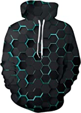 AIDEAONE Hoodies Sweater for Men Women Sweaters 3D Printed Funny Hooded Hoody Fun Hooded Sweater