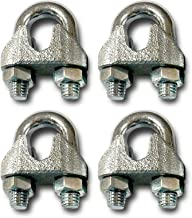 product image for Wood Tree Swings Rope Clamps/Set of 4 - Used to Fasten Rope at The top, Around a Limb or to Fasten to Tree Swing Hanging Kit