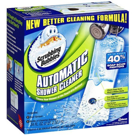 Scrubbing Bubbles Automatic Shower Cleaner with 40% More Soap Scum Fighters