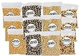 Riehle's Select Popcorn Hulless Sampler - Twelve 4oz Bags Total