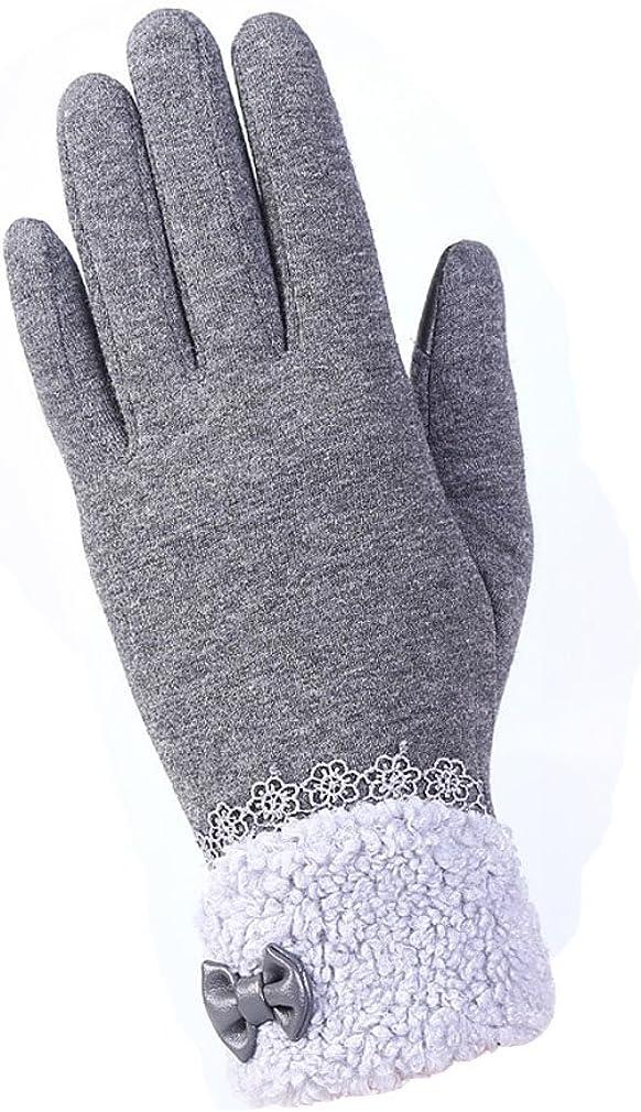 Womens Gloves Outdoor Winter Finger Touchscreen Warm Wrist Cotton Riding Sports