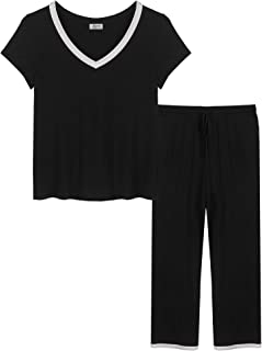 Joyaria Womens Pajama Sets Shorts/Pants Short Sleeve Bamboo V Neck