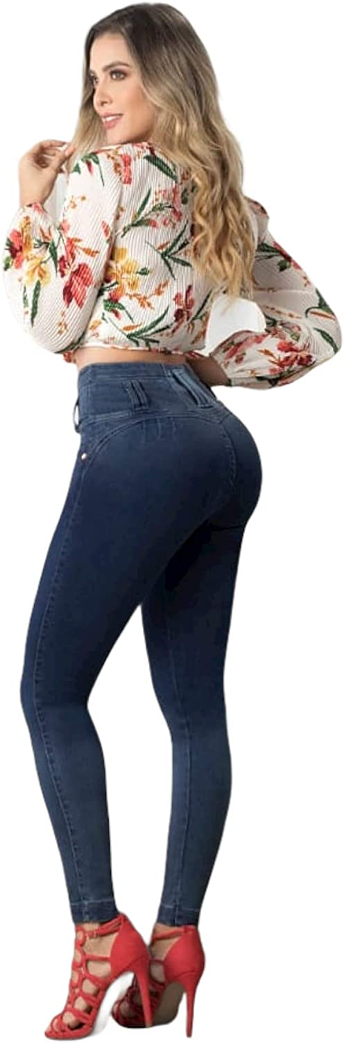 Colombian Raleigh Mall Jeans Butt Lift Navy 9 Max 80% OFF Blue