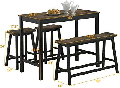 Amazon.com - Crown Mark Tyler 4-Piece Counter Height Table