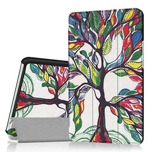SATURCASE Huawei MediaPad M3 8.4 Hülle, Schön PU Leder Flip Umklappbar Foliant Standfunktion Schützend Tablet Tasche Hülle Schutzhülle Tablethülle für Huawei MediaPad M3 8.4 (KN-1)