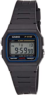Casio Women's Grey Dial Resin Digital Watch - F-91W-1DG