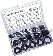 200 stuks 15 maten rubberen ringen - zwarte nitril O-ringen, geassorteerde rubberen grommets keukenkraan wasmachine voor m...