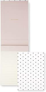 Kate Spade New York Desktop Notepad with 200 Lined Pages, Bikini Dot (black)