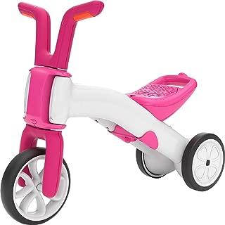 Chillafish Bunzi: 2-in-1 Gradual Balance Bike & Tricycle, White/Pink