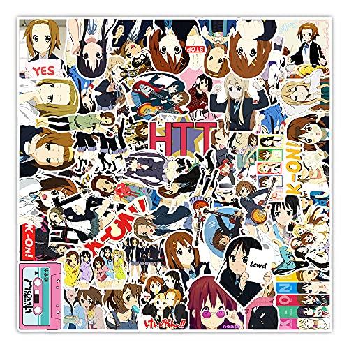 STKCST Dibujos Animados de Anime K-ON! Doodle DIY Paquete de Pegatinas portátil Pegatina Creativa calcomanía decoración Maleta Pegatinas Coche Impermeable Colorido Lindo Vinilo estético Pegatina