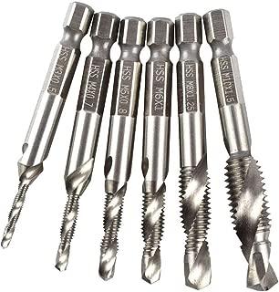 Hotaluyt 6Pcs HSS High Speed Steel Drill Bits Set 1/4