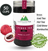Organic Lychee Black Tea - Loose Leaf - Hot Tea, Iced Tea with Honey, Lemon, Soda, Maple Syrup and Etc.- Freshest production in every month - 60g (2.11oz) Northlandtea