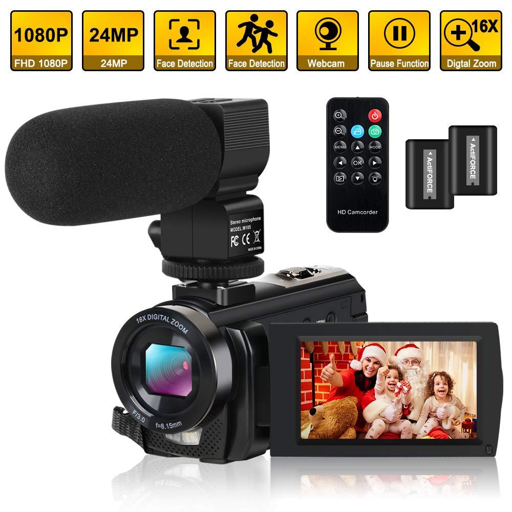 Camcorder Vlogging Microphone Controller Batteries