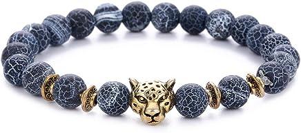 Hotdog Chakra Lava Rock Bracelet for Man Women -8mm Natural Lava Rock Stones 7 Colour Rainbow Chakra Yoga Beads Bracelet (1109)
