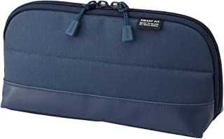 """LIHIT LAB. Pen Case (Pencil Case), Water & Stain Repellent, Navy, 8"""" x 4'' (A7688-11)"""