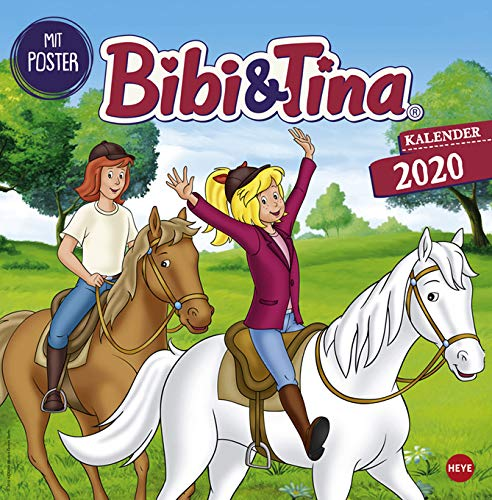 Bibi und Tina - Broschurkalender - Kalender 2020 - Heye-Verlag - Wandkalender - 29,5 cm x 30 cm (offen 29,5 cm x 60 cm)