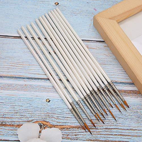 Pincel de nylon, caneta de desenho de 12 unidades, ferramentas de pintura para artistas Pintura a óleo e materiais para pintura em aquarela