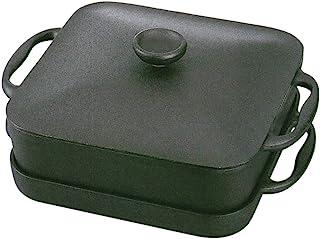 岩鋳 Iwachu スクエアパン 浅型鍋・深型鍋セット 黒焼付 IH対応 南部鉄器 21700
